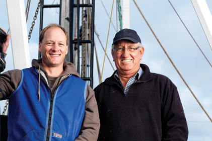 Two members from the Spencer Gulf & West Coast Prawn Fisherman's Association
